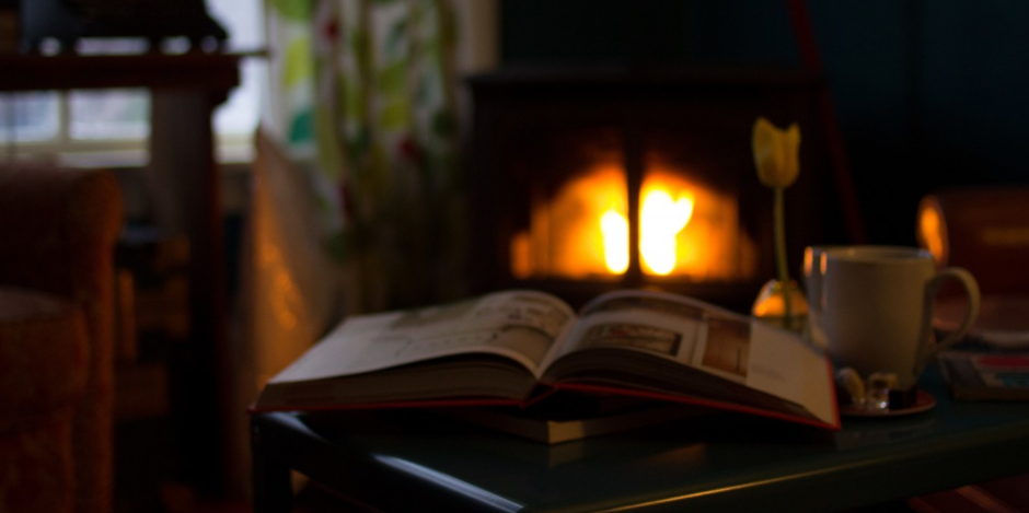 Beim Anblick des Feuers entspannt sich die Seele