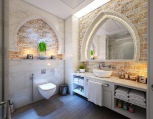 Badezimmerspiegel mit LED Beleuchtung